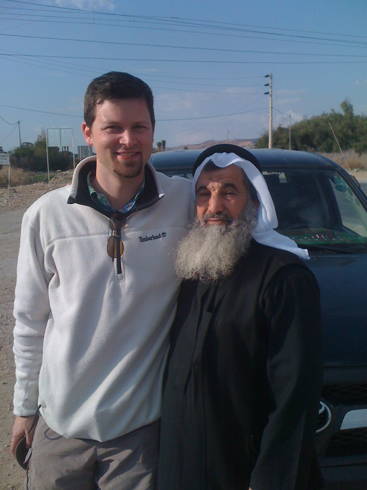 Jon and an Arab Sheikh - Jordan Tour