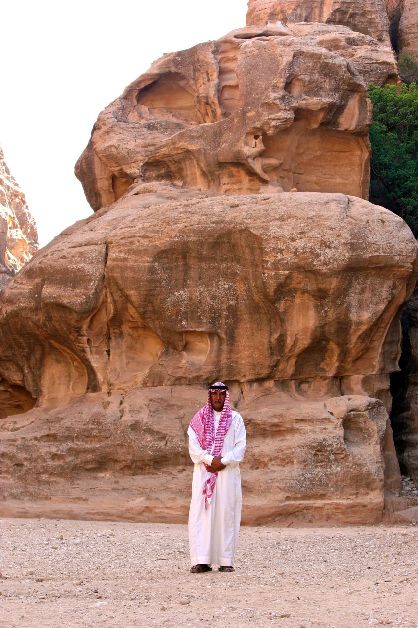 Bedouin man in Siq al Berid (Little Petra), Jordan