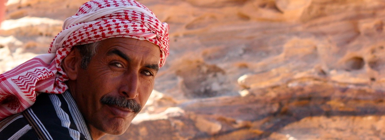 Abu Mohammad on the Bedouin hike to Petra Jordan