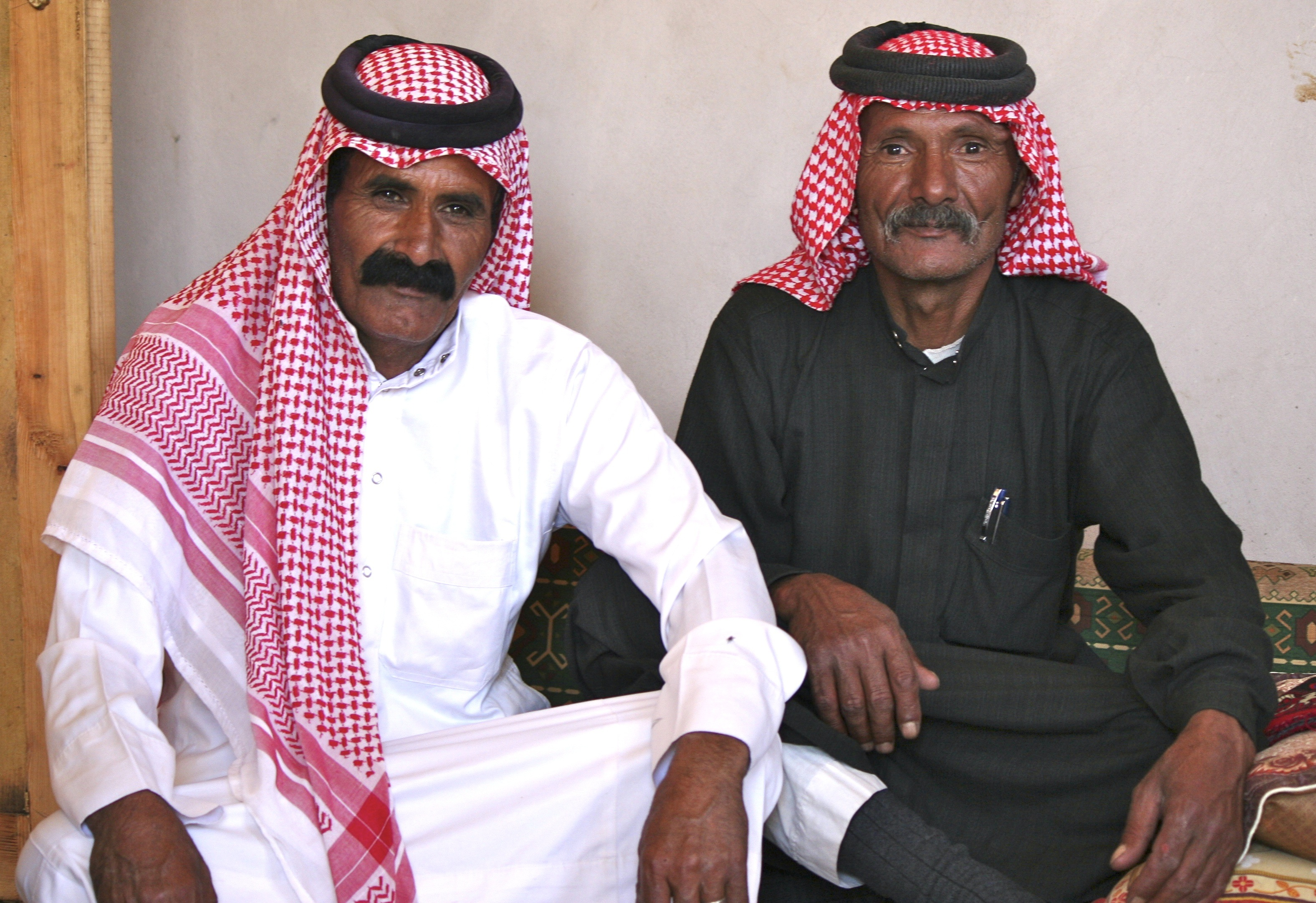 Two of our friends from the Ammarin Bedouin tribe in Petra Jordan.