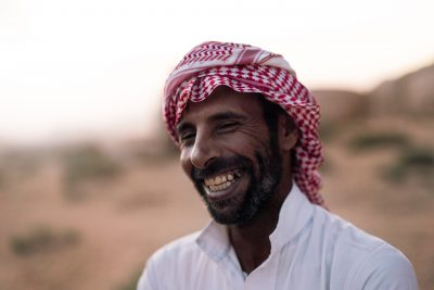 Meeting a Bedouin Jordanian