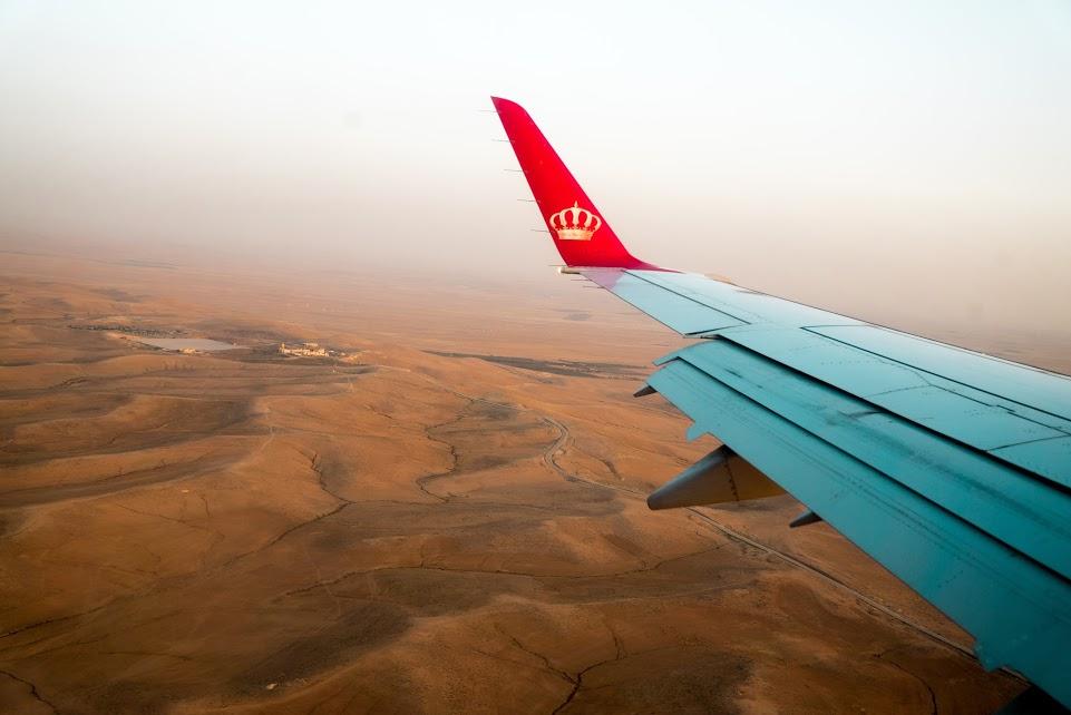 Flying to Amman, Jordan