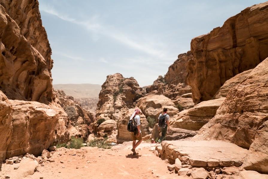 Entering Petra