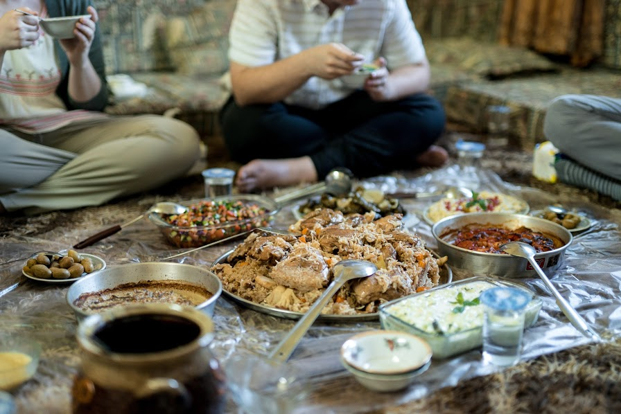 dinner in a home on a Private Jordan Tour