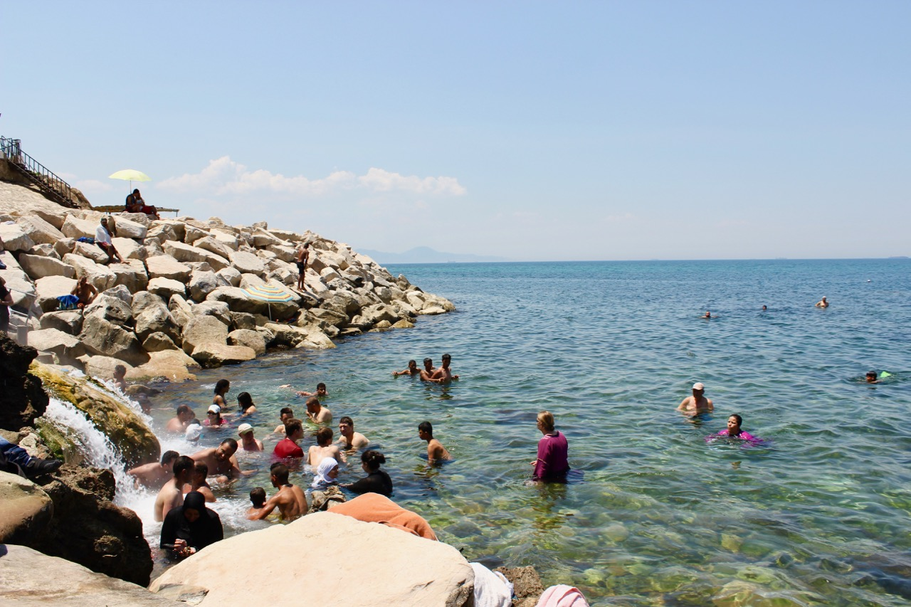 swimming-at-korbous-hot-springs