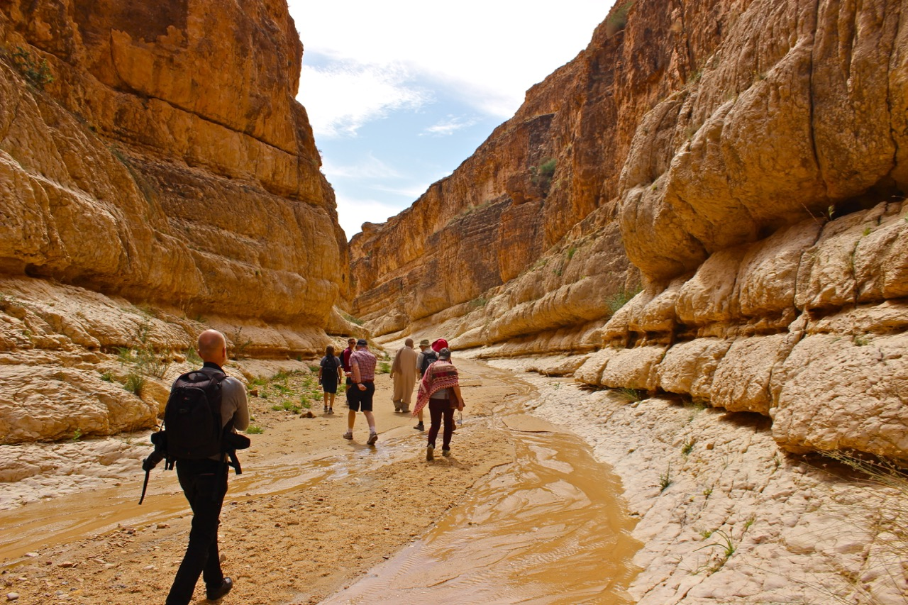 Hiking in Mides Canyon in Tunisia during Spring