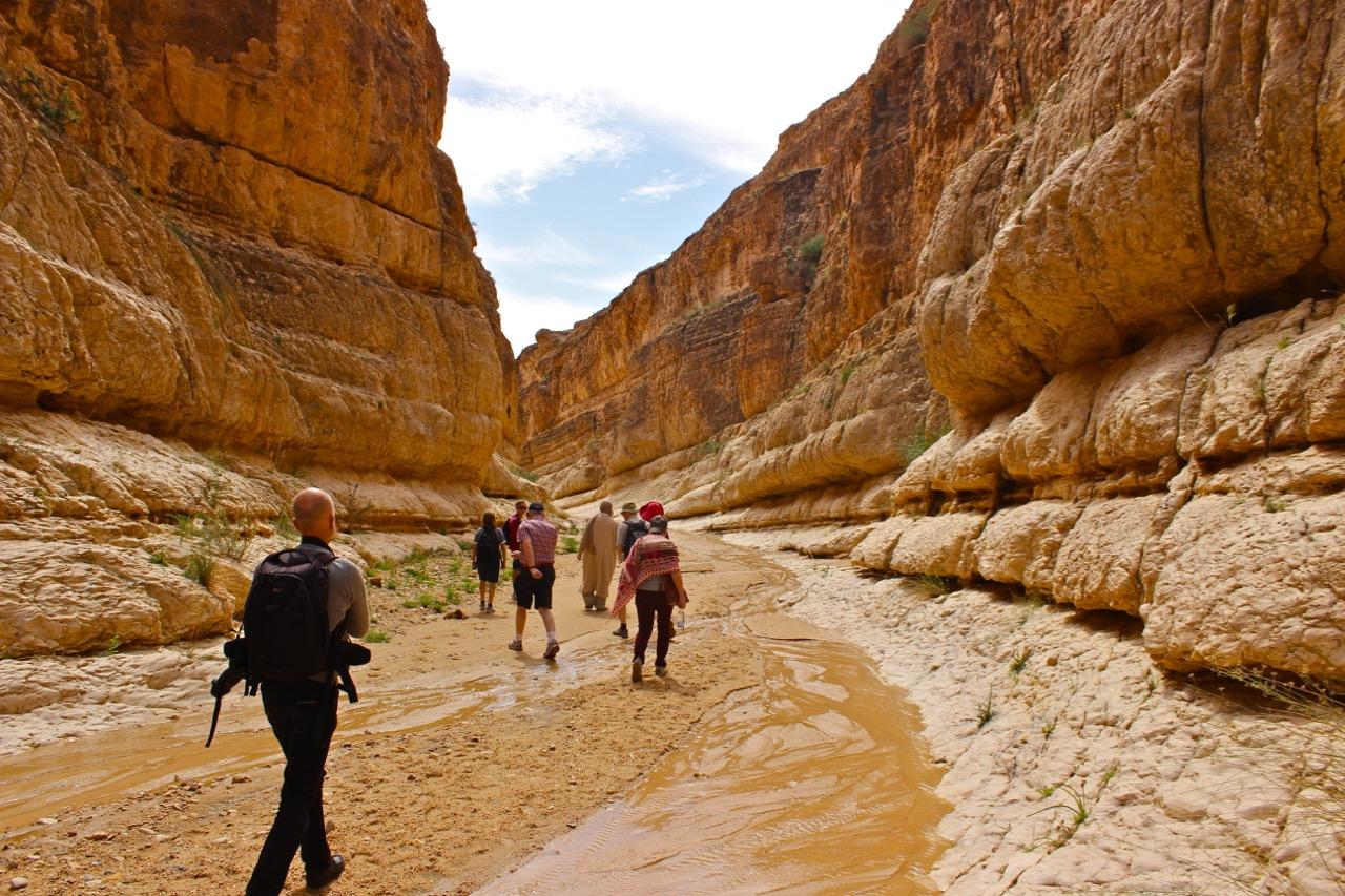 Randonnée au Mides Canyon en Tunisie au printemps