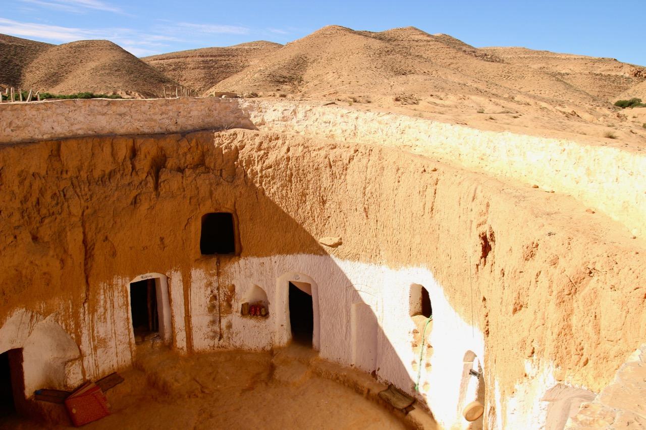 The Underground Homes of Matmata Tunisia