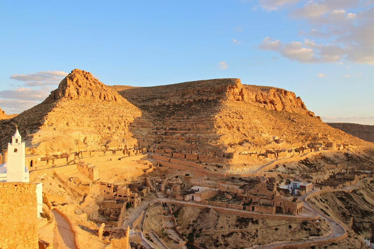 Chenini Tunisia Hilltop Facade