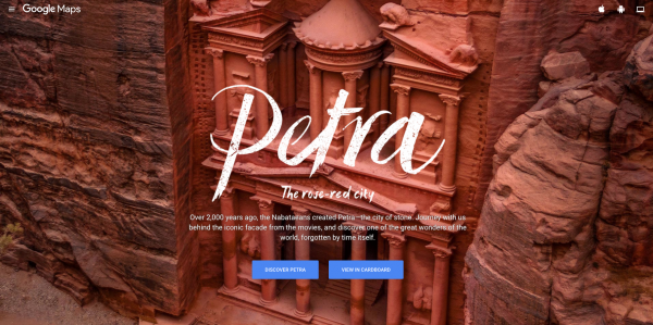 A narrated tour of Petra Jordan on Google Street View