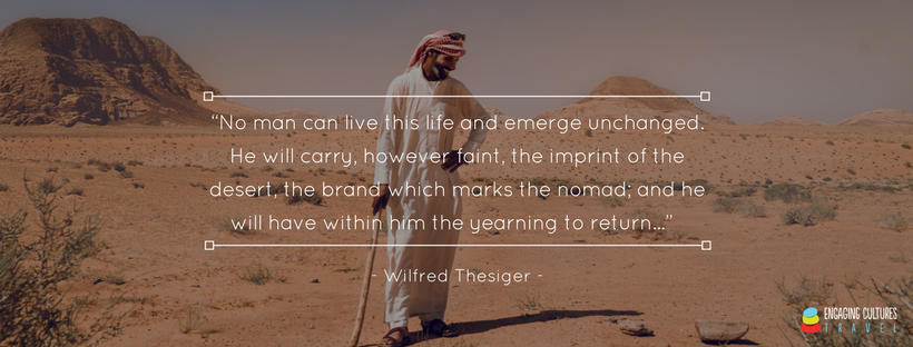 quote from Wilfred Thesiger on the desert
