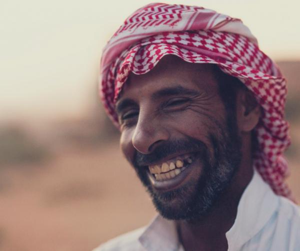 a Bedouin man in Wadi Rum Jordan