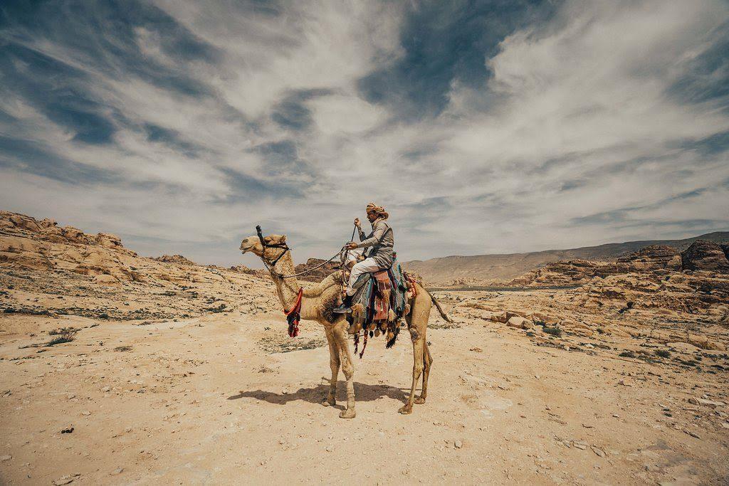 private camel trek tour in Petra Jordan