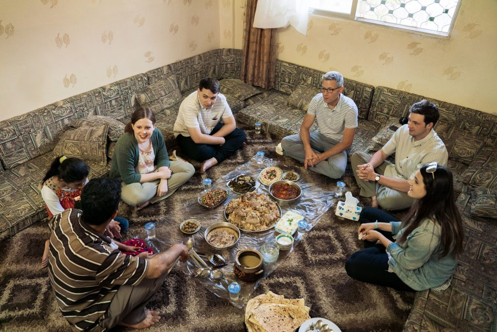 a custom Jordan tour including a meal with a local family and homestay