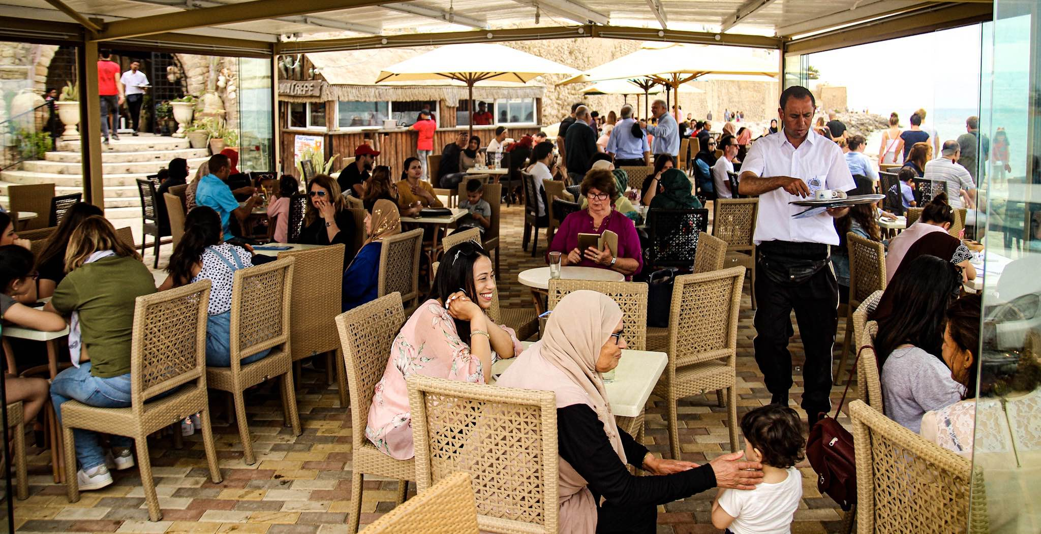 Hammamet, Tunisia cafe scene