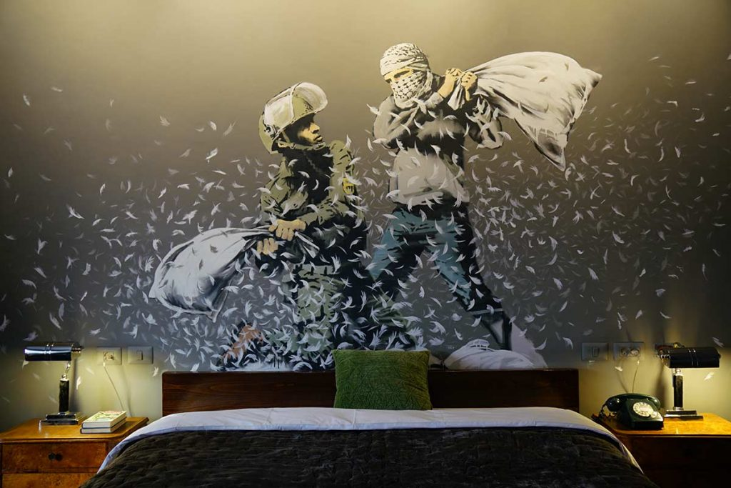 Walled off Hotel Banksy Bethlehem Palestine