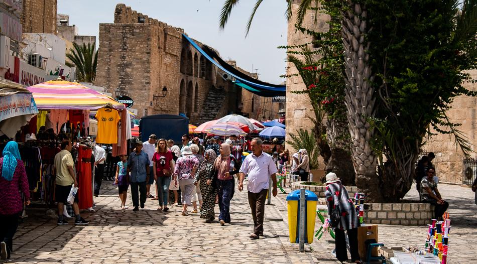 Market/souq near Bab il Jadid in the Sousse Medina