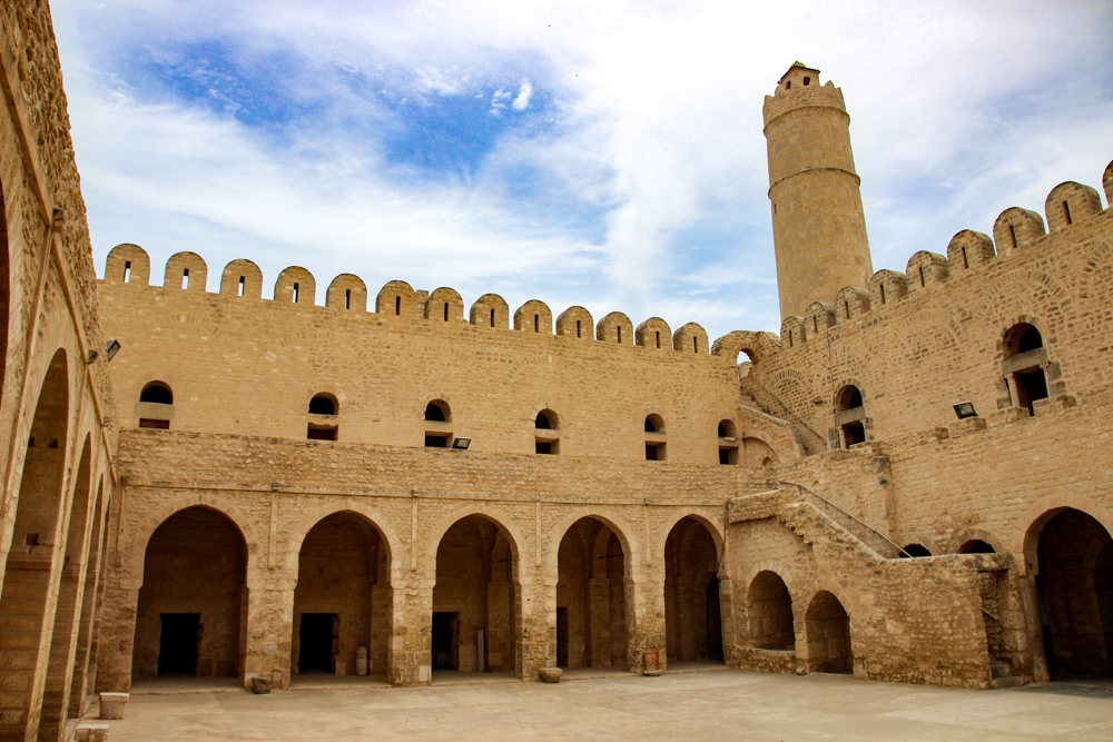 Courtyard in the Ribat in the Sousse Medina