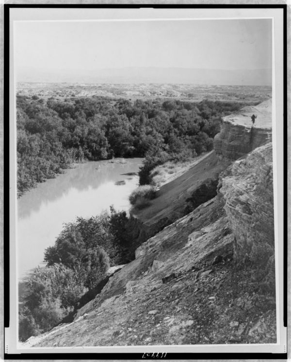 the Jordan river as seen from the Allenby Bridge 1870-1920