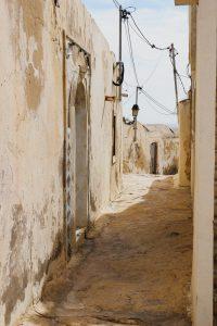 A narrow street in Berber village Takrouna