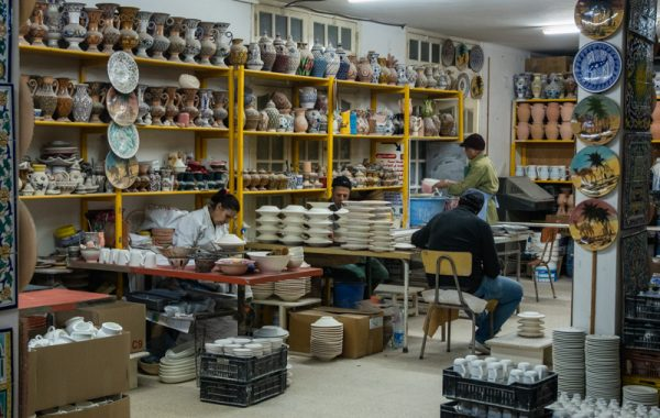 Hand Painting Pottery in Nabeul Tunisia shop