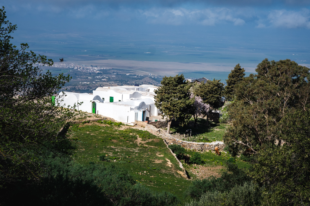 A tomb half way up the mountain of Zaghouan